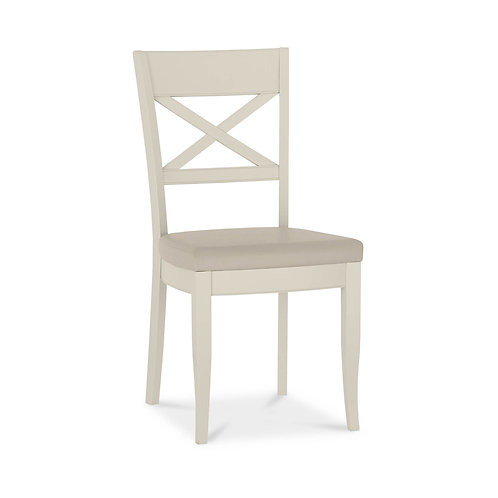 Chartreuse Antique White X Back Chair (Pair)
