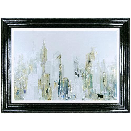 Golden Winter City I - Framed Art