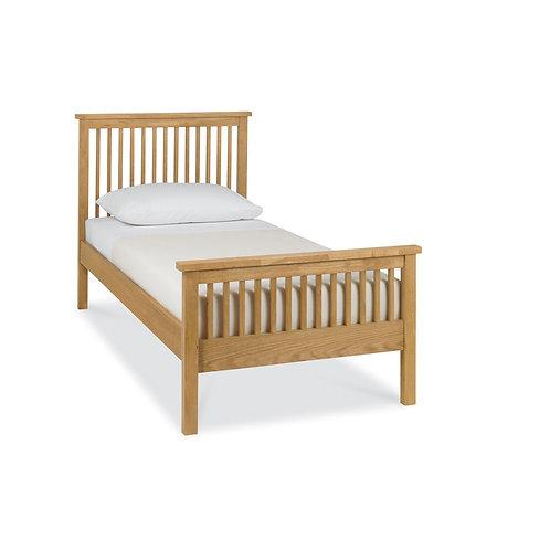 Atlanta Oak High Footend Bedstead - Single 90 cm