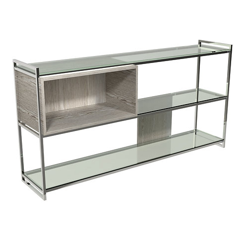 Federico Low Bookcase in Polished Frame