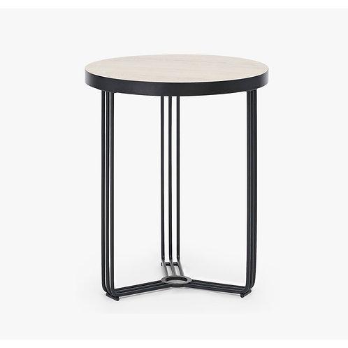 Finn Circular Side Table - Black Frame