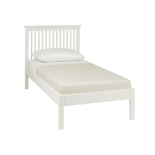Atlanta White Low Footend Bedstead - Single 90 cm