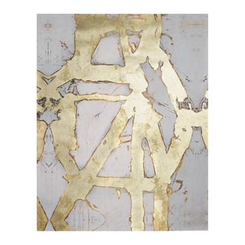 Ace of Spades in Gold I - Canvas Art