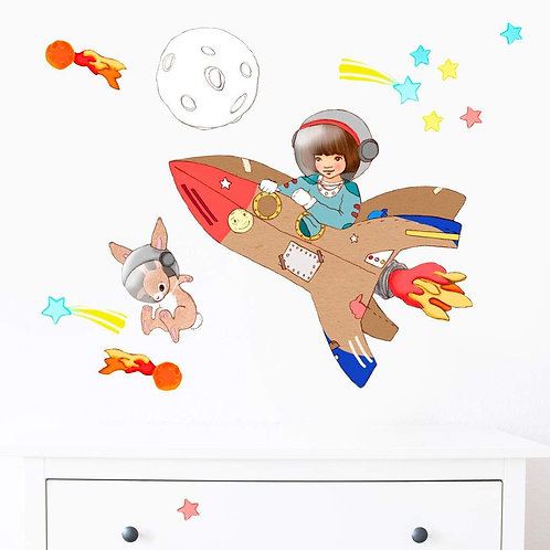 Space Adventure - Kids Wall Stickers