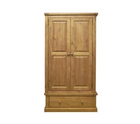 Chunky Pine - 2 Door 1 Drawer Wardrobe