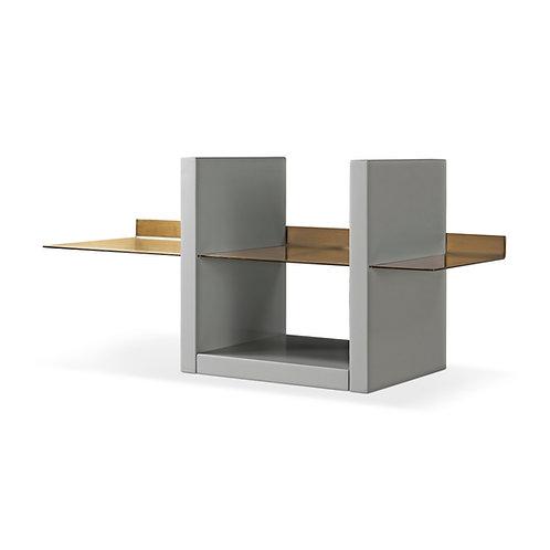 Alberto Wall Shelf Unit - Grey