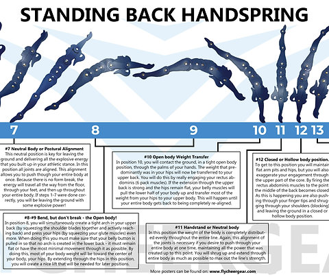 Standing Back Handspring Poster 12 x 36 inches