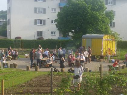 Nachbarschafsfest und Ufrichtäte