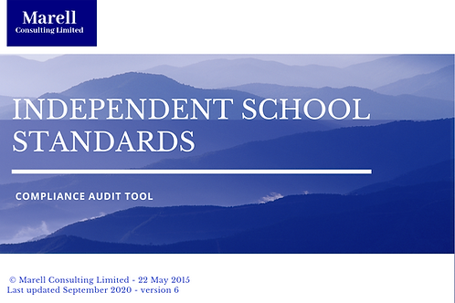 Independent School Standards Compliance Audit Tool
