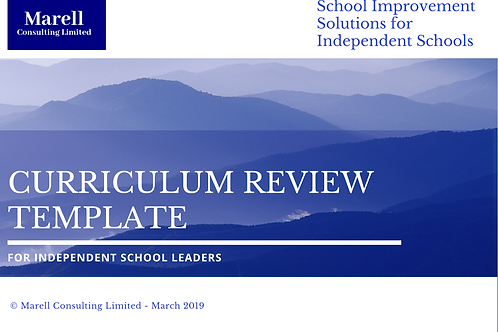 Curriculum Review Template for SLTs