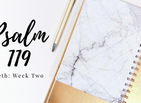 Psalm 119: Week Two Beth