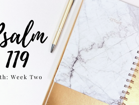 Psalm 119: Week Two Beth