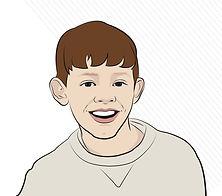 Digital cartoon drawing illustration boy image