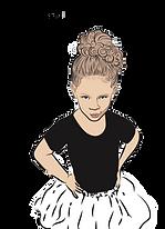 Digital cartoon portrait drawing sassy little girl image