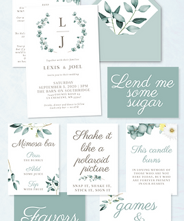 eucalyptus-wedding-invitation-signs