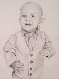 portrait drawing child pencil and paper image