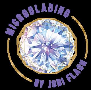 Microblading by Jodi Flach Logo watercolor gem