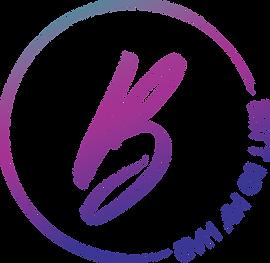 Britt Did My Hair La Crosse WI Logo design colorful gradiant painted B