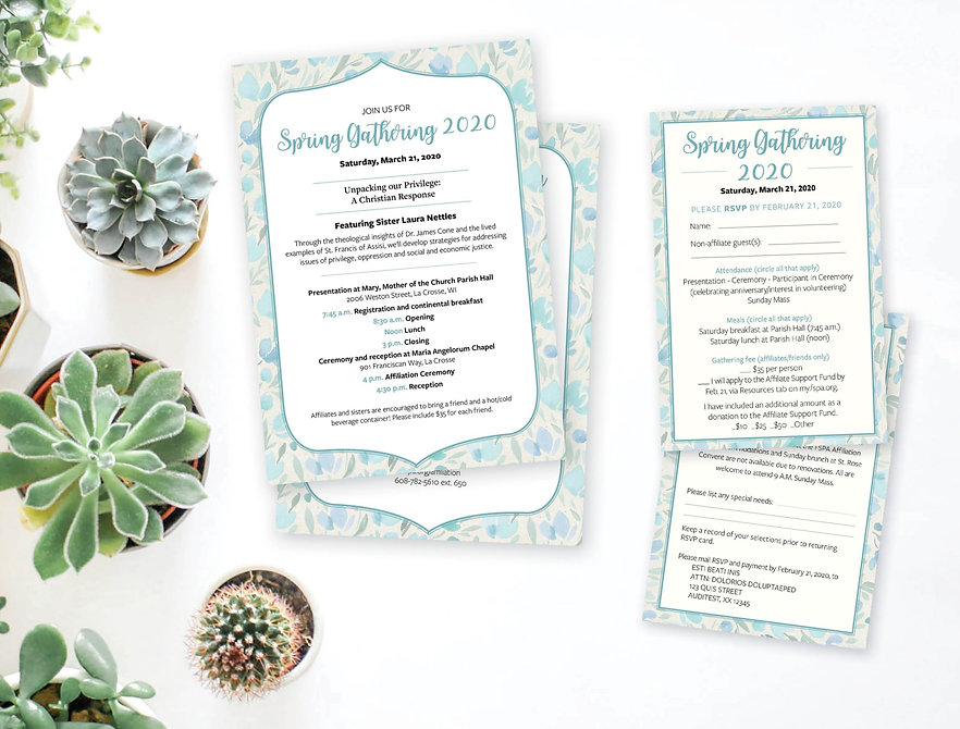 Text heavy invitation and rsvp design image