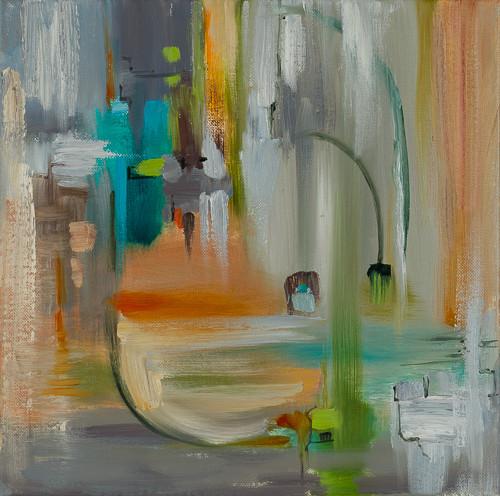 "Urban 1  12x12"" oil on canvas $285"