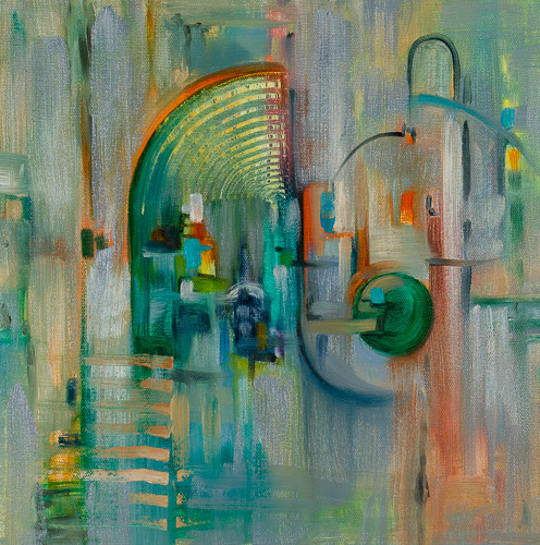"""Architecture 3  12x12"""" oil on canvas SOLD"""