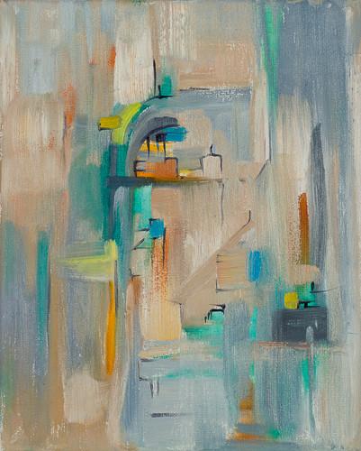 "Urban 3  10x8"" oil on canvas $175"