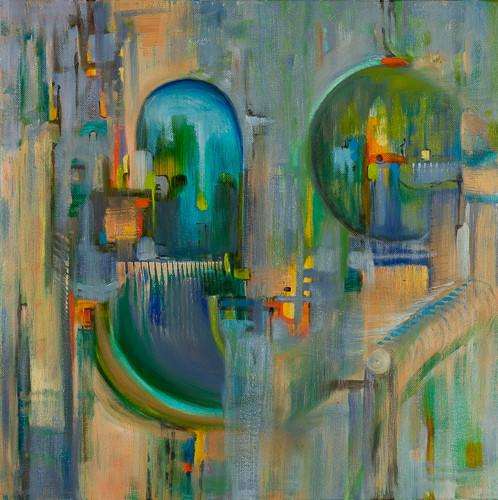"Architecture 2  16x16"" oil on canvas $500"