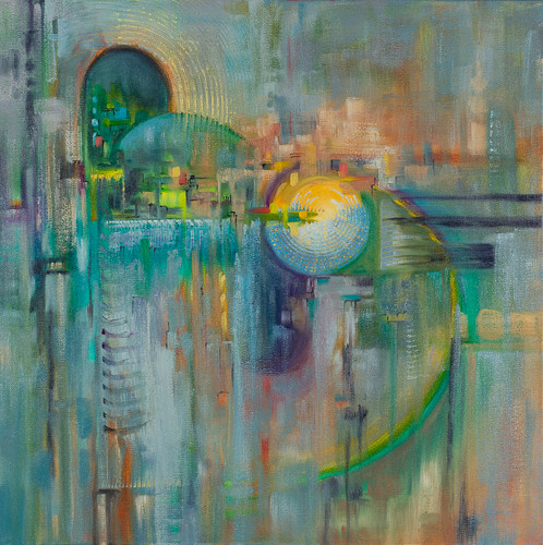 """Architecture 4  20x20"""" oil on canvas SOLD"""