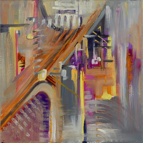 "Urban 2  12x12"" oil on canvas $285"