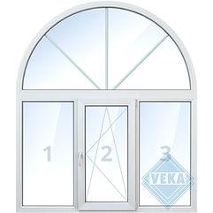 Бесшовное окно veka, нестандартная конструкция, белое, цветное, с ламинацией цены, окна века цена