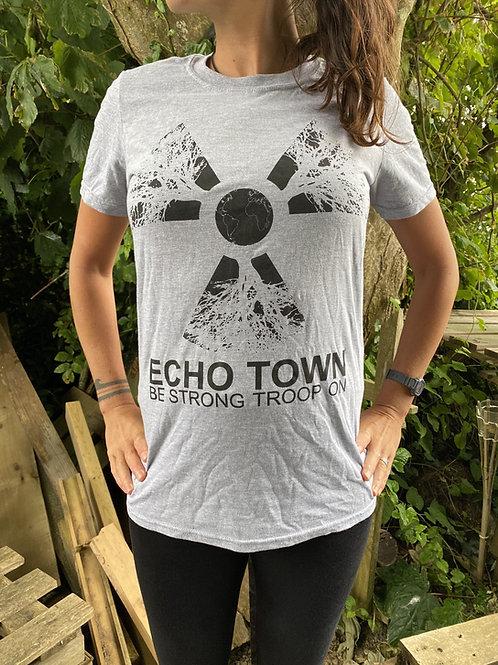 Grey 'Troop On' T-shirt