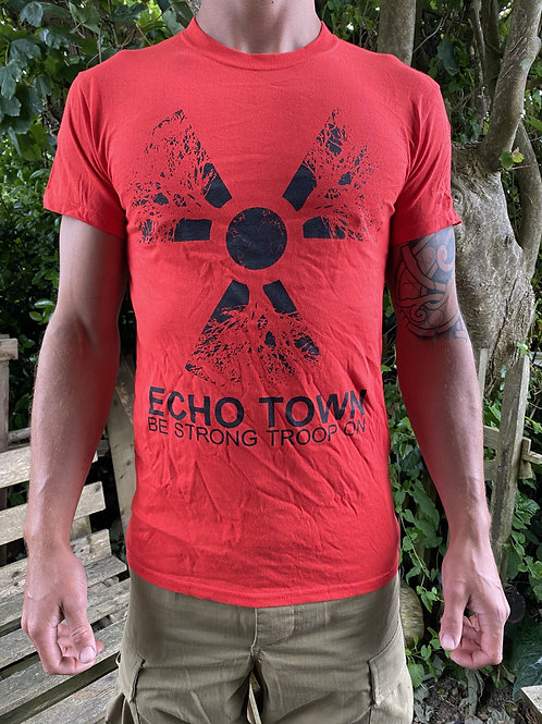 Red 'Troop On' T-shirt