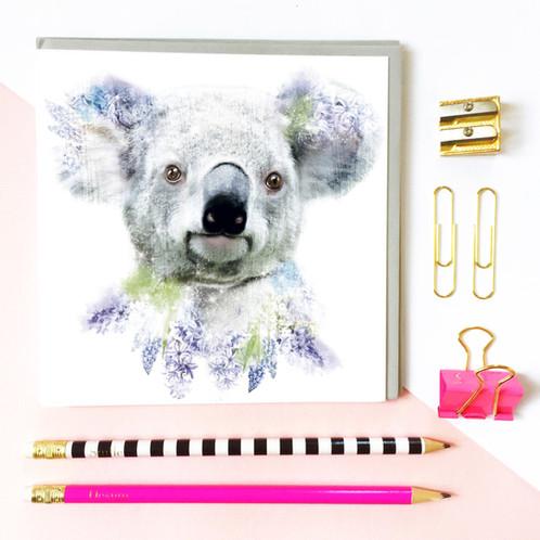 Koala greeting card m4hsunfo