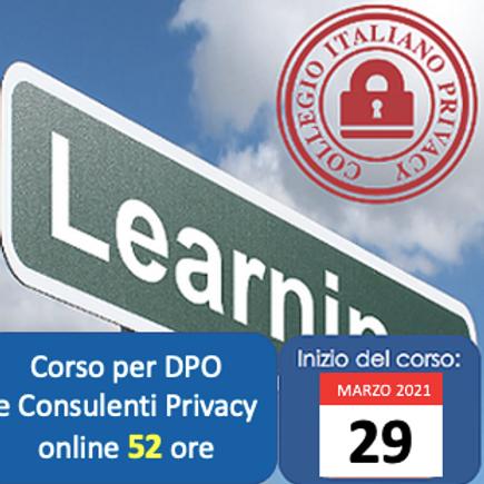 Corso per DPO e Consulenti privacy (online di 52h)