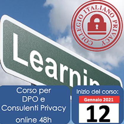Corso Standard per DPO e Consulenti privacy (online di 52h)
