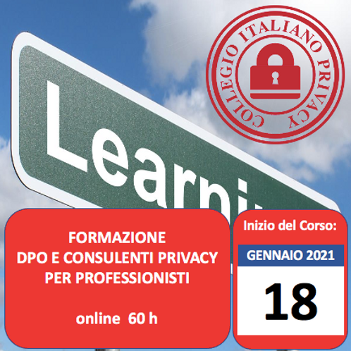 Corso DPO e Consulenti Privacy per Professionisti (online di 60h)