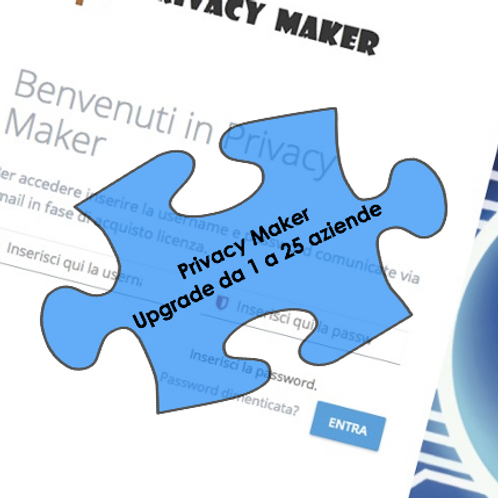 Privacy Maker - Upgrade da 1 a 25 Aziende
