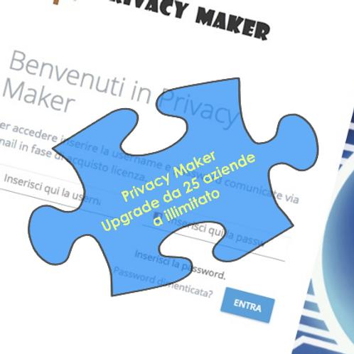 Privacy Maker - Upgrade da 25 Aziende a illimitato