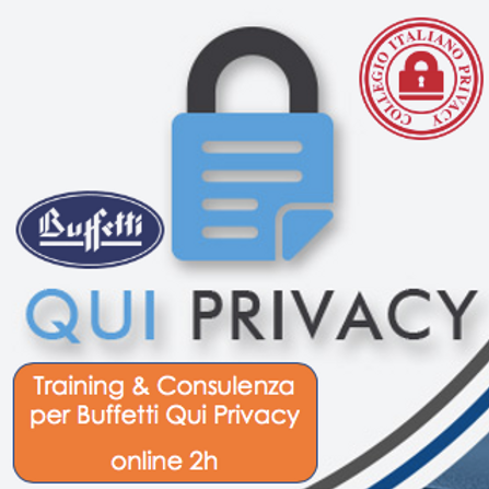 Training & Consulenza su Buffetti Qui Privacy (online di 2h)