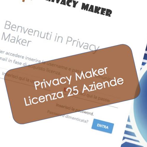 Privacy Maker - Licenza per 25 Aziende