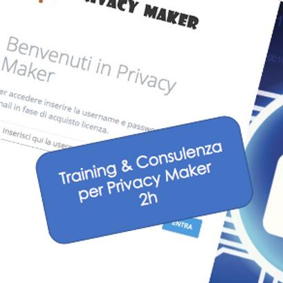 Training & Consulenza su Privacy Maker online di 2h