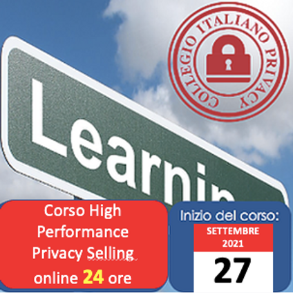 Corso High Performance Privacy Selling (online di 24h)