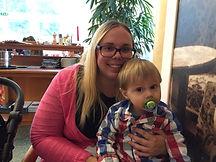Foto Christina Taupe mit Sohn