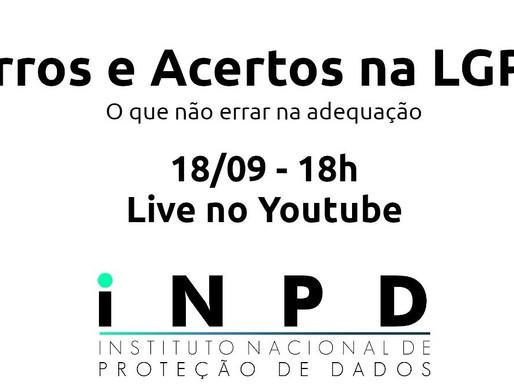 Live - Erros e acertos na LGPD