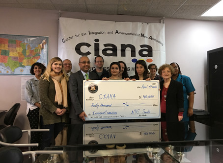 Senator Peralta Gives to CIANA