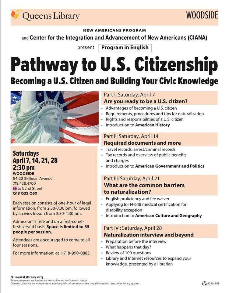 April Pathway to U S  Citizenship Workshops
