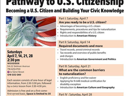 April Pathway to U.S. Citizenship Workshops