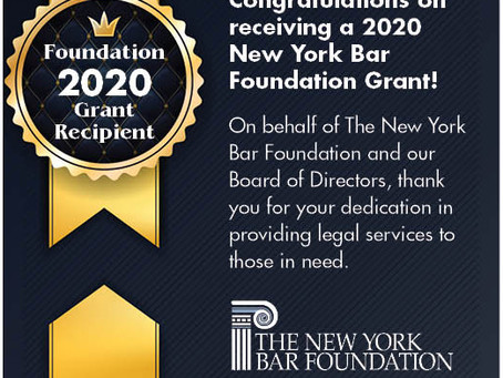 The New York Bar Foundation Presents Grant to CIANA for Immigration Legal Services