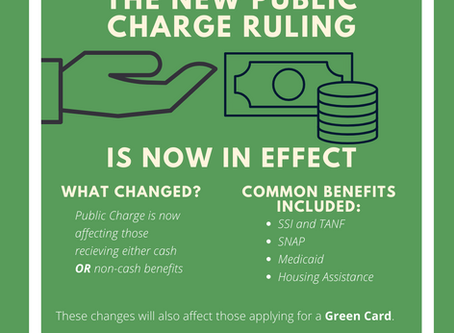 CIANA Explains: Public Charge is Now in Effect