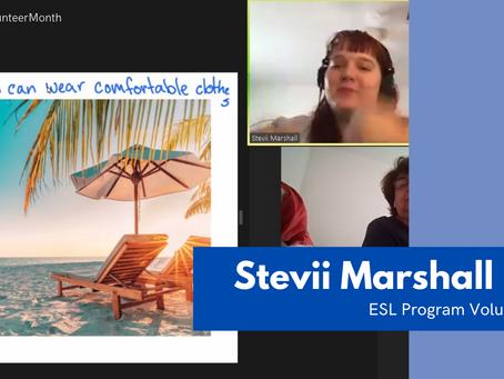 National Volunteer Month Spotlight: Stevii Marshall